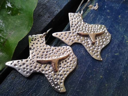 Texas Dot Earrings - Artisan Jewelry